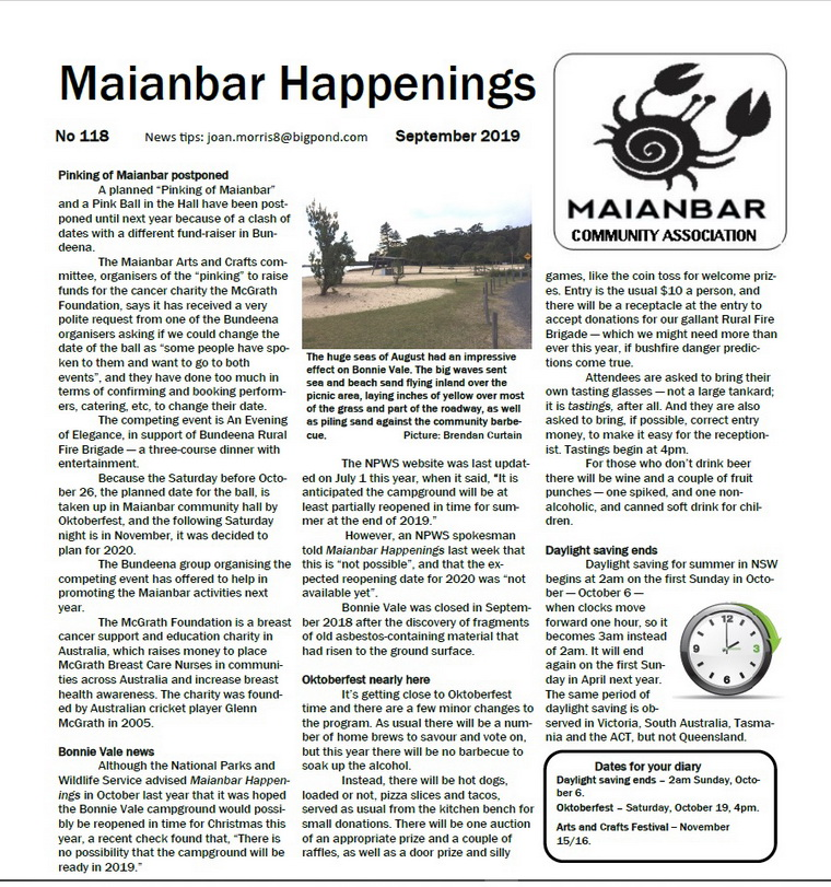 Maianbar Happenings September 2019 Page 1