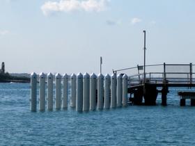Bundeena wharf under construction