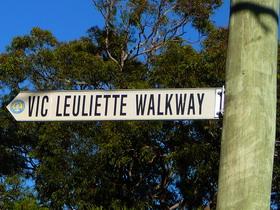 Vic Leuliette Walkway Sign
