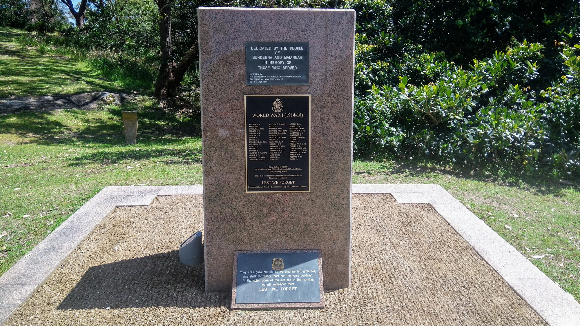 Bundeena RSL War Memorial