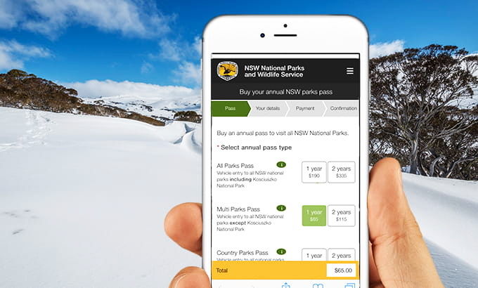 Royal National Park Digital Passes Mobile App