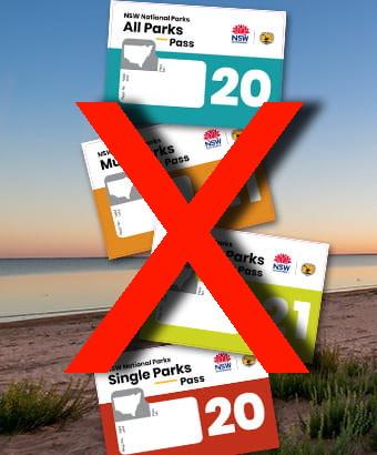 Royal Natinal Park Annual Pass Sticker No Longer