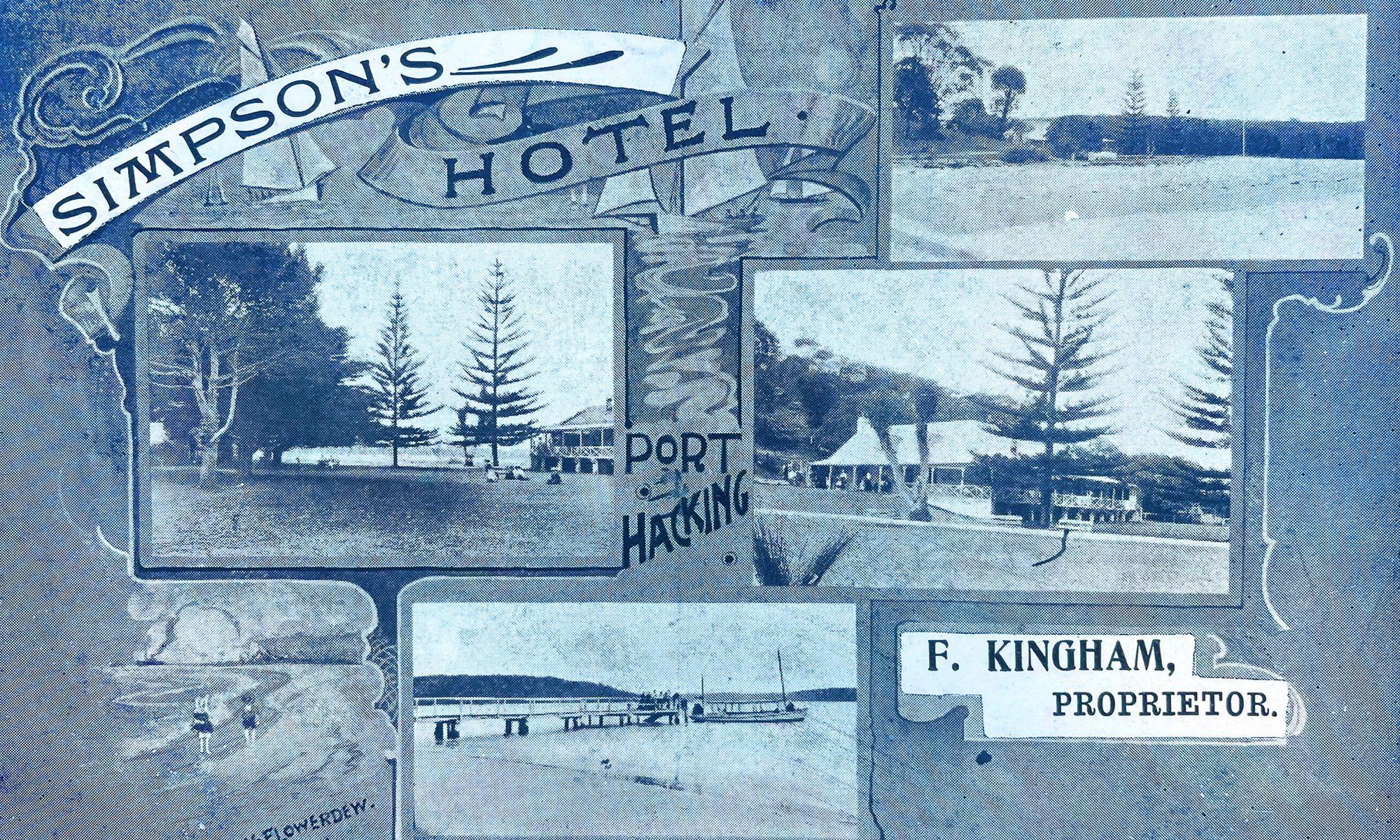 Simpson's Hotel History Postcard