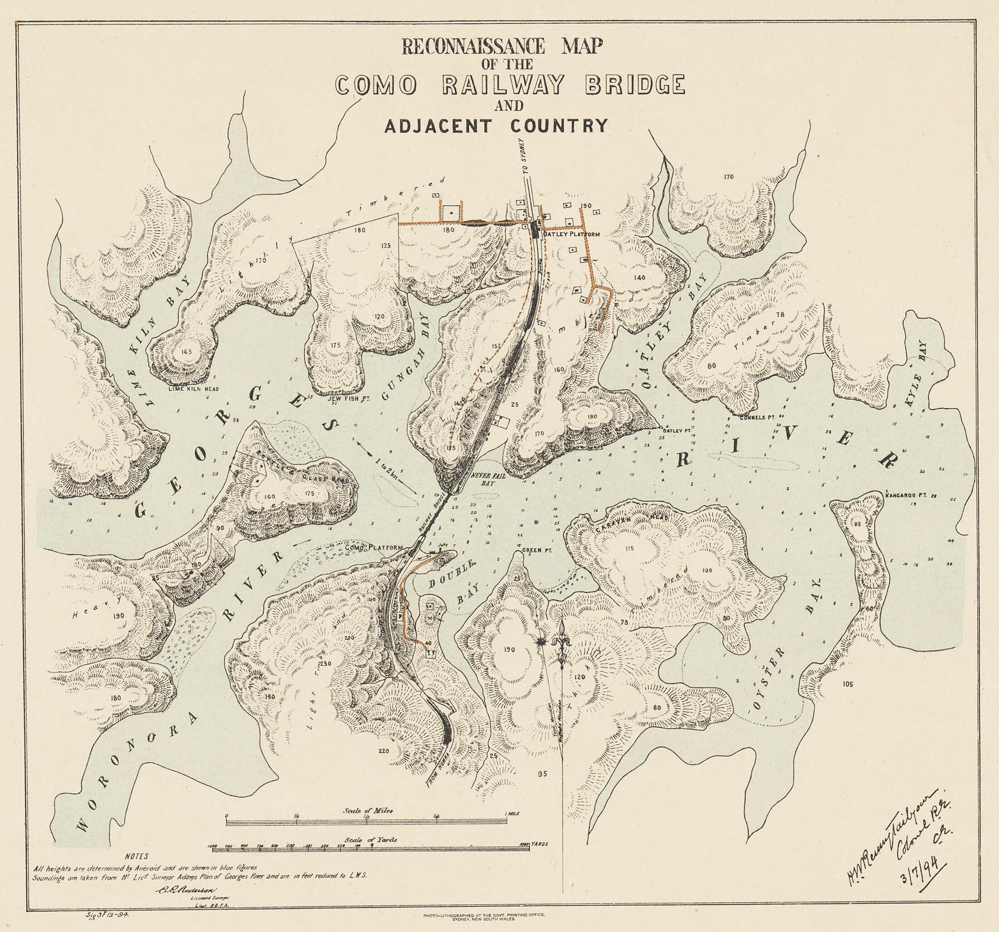 Como Railway Map (1894)