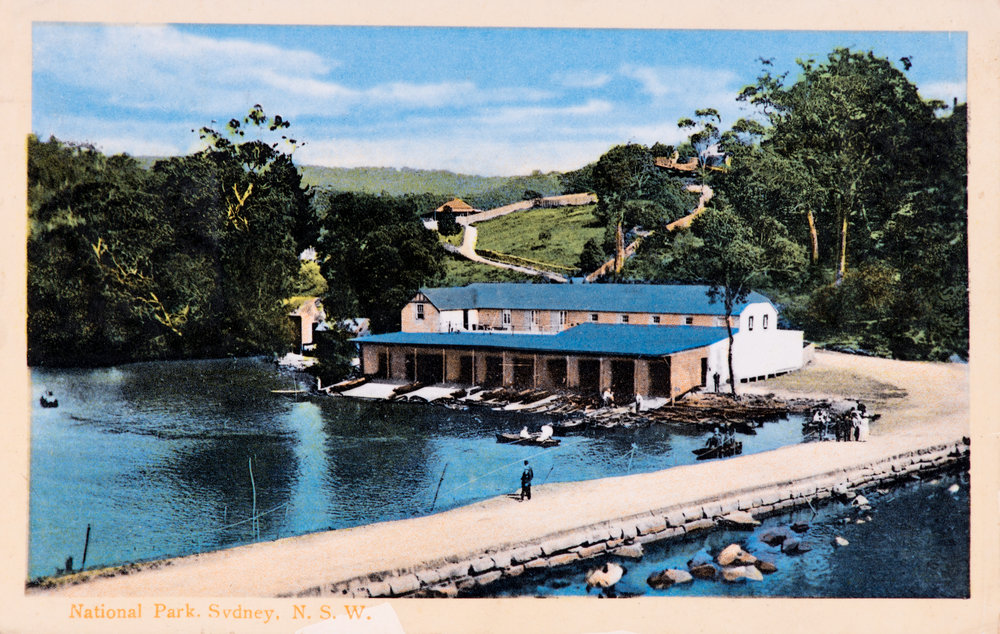 Audley Boatshed early 1900s