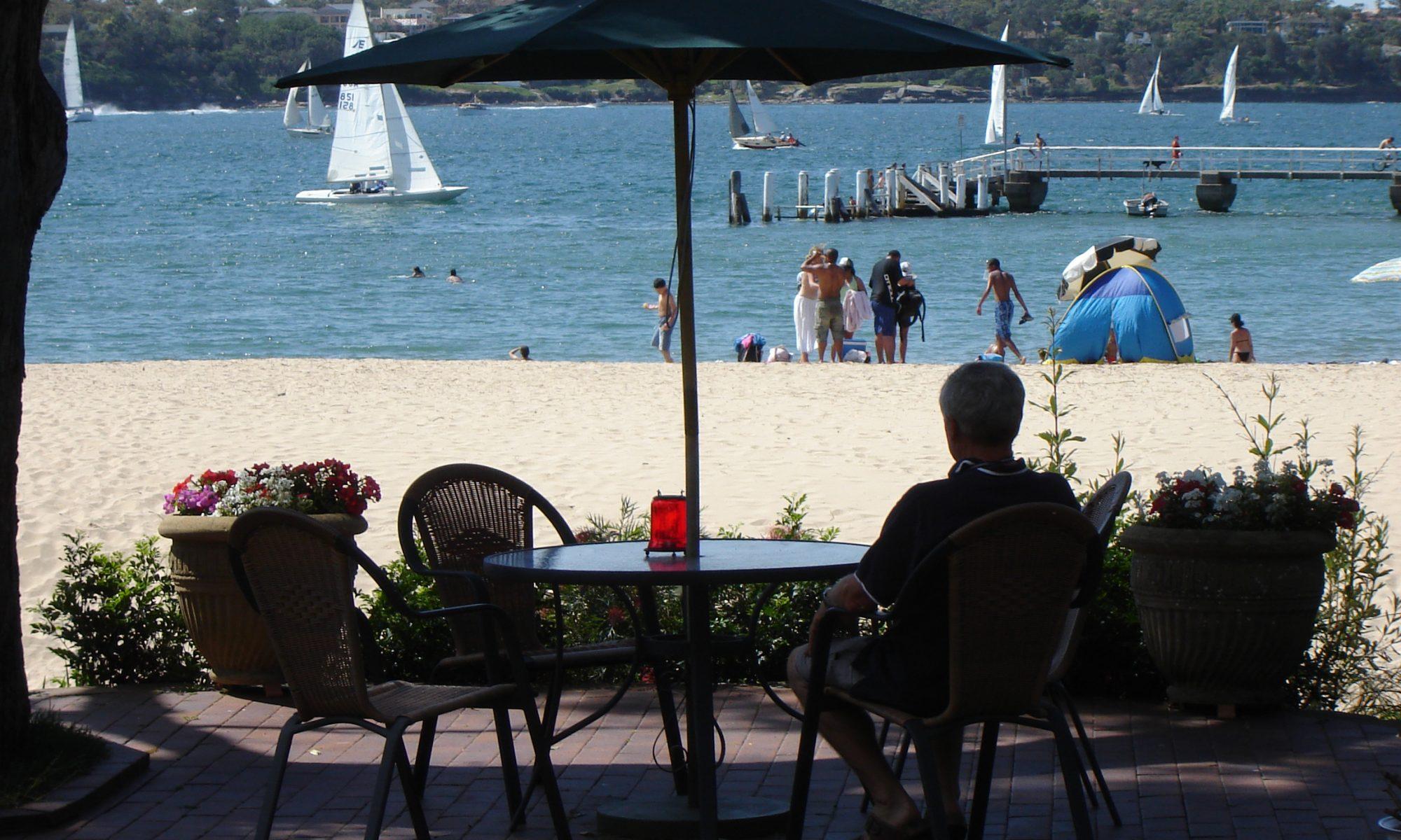 Bundeen accommodation Beachhaven Bed & Breakfast beach front view