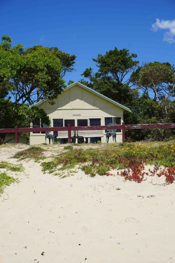 Horderns Beach House Accommodation view from beach