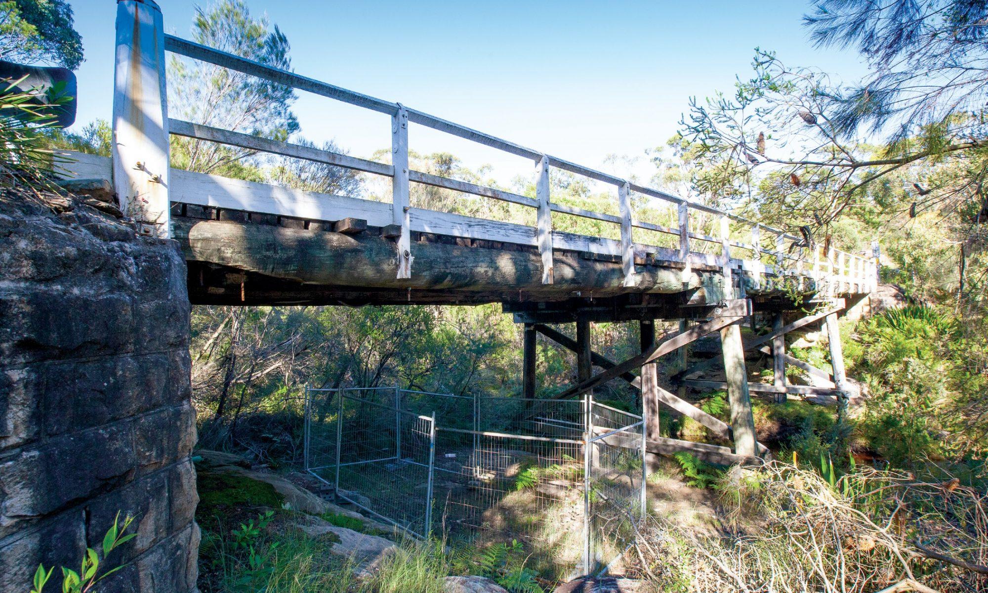 Flat Rock Bridge from below
