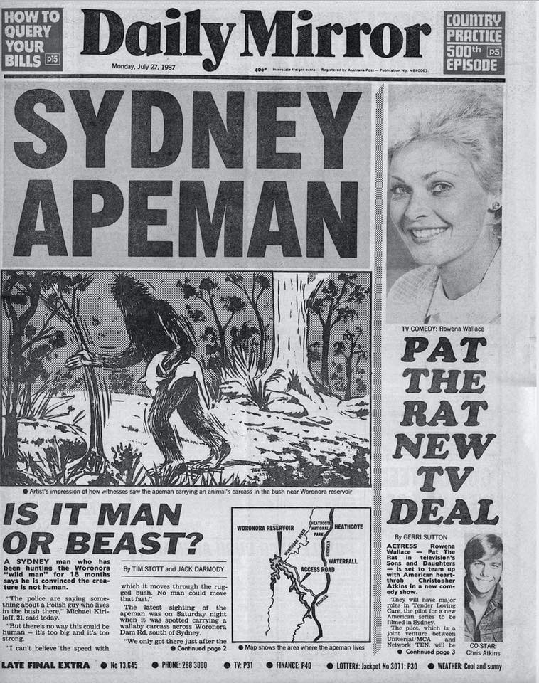 Royal National Park Yowie Sighting Daily Mirror